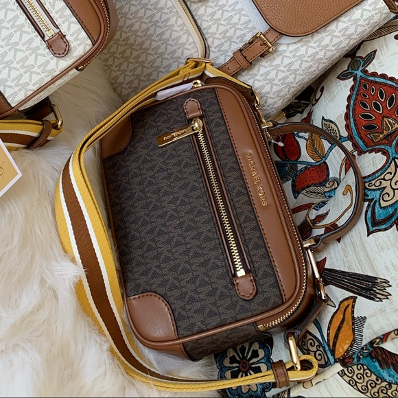 f4cdb36e Sale 🎉 brown MK logo crossbody 2019 collection Boutique